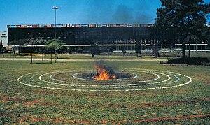 Milton Becerra - Meteorite Ibirapuera Park, XVIII Biennial of São Paulo, Brazil (1985).