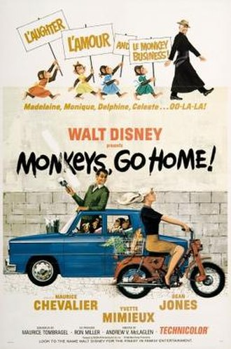 Monkeys, Go Home! - Theatrical release poster