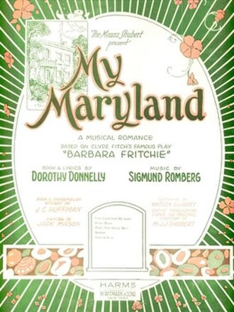 My Maryland - Sheet music cover (cropped)