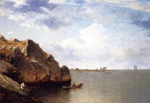 David Johnson (American artist) - Near Noroton Connecticut (1875) by David Johnson