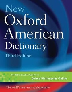 <i>New Oxford American Dictionary</i> single-volume dictionary of American English
