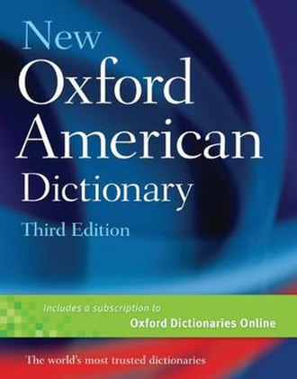 New Oxford American Dictionary - Image: New Oxford American Dictionary, third edition (front cover)