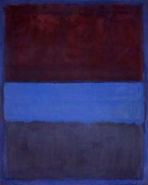 Color Field - Mark Rothko, No. 61 (Rust and Blue), 1953, 115 cm × 92 cm (45 in × 36 in). Museum of Contemporary Art, Los Angeles