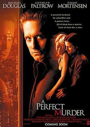 A Perfect Murder - Theatrical release poster