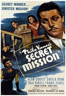 <i>Philo Vances Secret Mission</i> 1947 film directed by Reginald Le Borg