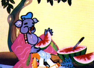 History of Chinese animation - Pigsy eats Watermelon