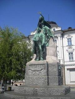 Prešeren Monument (Ljubljana) sculpture by Max Fabiani