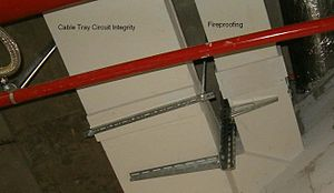Circuit integrity - Circuit integrity fireproofing of cable trays.