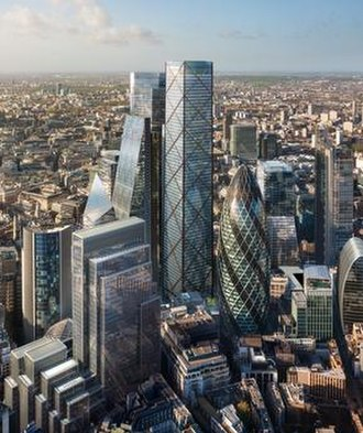 1 Undershaft - Proposed design for 1 Undershaft (centre), standing to the left of The Gherkin