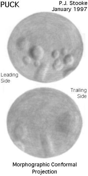 Puck (moon) - Map of Puck