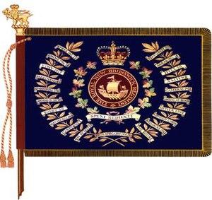 The Royal New Brunswick Regiment - The regimental colour of the Royal New Brunswick Regiment.