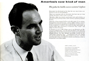 John H. Rubel - Rubel, as shown in a Hughes advertisement in Life magazine, October 1, 1956