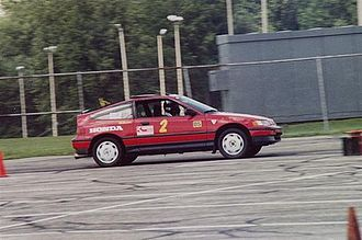 Honda CR-X - Honda CRX Si at an autocross