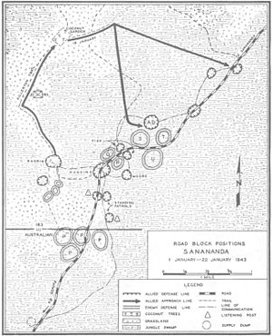 41st Infantry Division (United States) - Sanananda road block positions 1–22 January 1943.