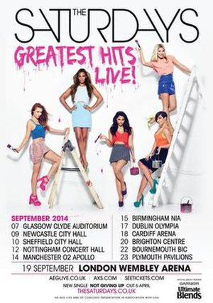 Greatest Hits Live! (tour) - Image: Saturdays greatest hits live