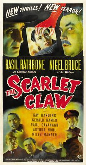 The Scarlet Claw - 1944 US Theatrical Poster