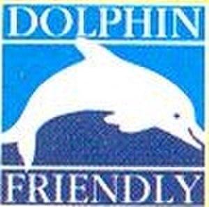Dolphin safe label - Sealord dolphin friendly logo.