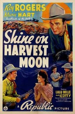 Shine On, Harvest Moon (1938 film) - Theatrical release poster