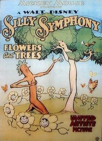 The Walt Disney Company - Original poster for Flowers and Trees (1932).