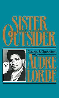 <i>Sister Outsider</i> book by Audre Lorde