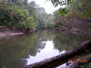 Seneca Creek (Potomac River) - Seneca Creek, looking upstream from Berryville Road