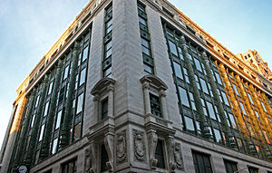 Filene's - Filene's Department Store, the former headquarters and flagship store in Downtown Crossing, Boston.