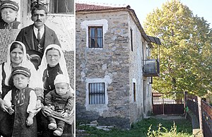Tale Ognenovski -  Tale Ognenovski, with his father Jovan, mother Fanija, grandmother Marija and brother Aleksandar in 1926,  Brusnik, Bitola, Republic of Macedonia
