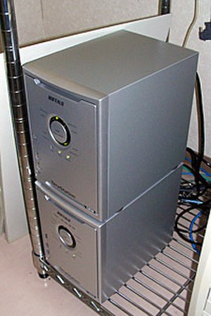 Buffalo network-attached storage series - Two TeraStations stacked