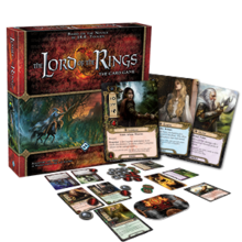Low resolution The Lord of the Rings: The Card Game box and example gameplay layout