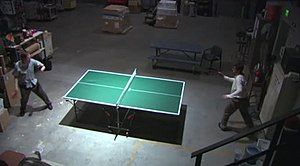 The Deposition (The Office) - Dwight and Mose playing ping-pong