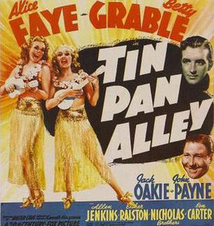 Tin Pan Alley (film) - Theatrical release poster