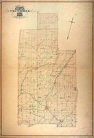 Victoria County, Ontario - A historic map of Victoria County, published in 1881.