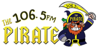 WELM The Pirate 106.5 logo.png