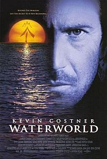 <i>Waterworld</i> 1995 dystopian science fiction adventure movie