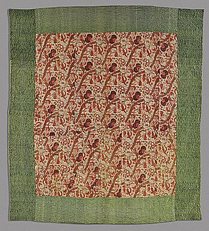 History of quilting - Whole-cloth quilt, 18th century, Netherlands. Textile made in India.
