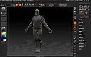 Fullscreen screenshot of ZBrush 4.0
