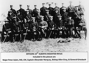 19th Alberta Dragoons - Officers of 19th AB Dragoons, early between 1908-1911