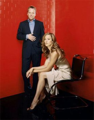 24 (season 4) - Two members of the season 4 main cast: Kiefer Sutherland and Kim Raver