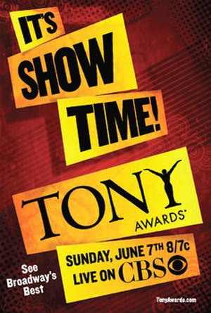 63rd Tony Awards - 63rd Tony Awards poster