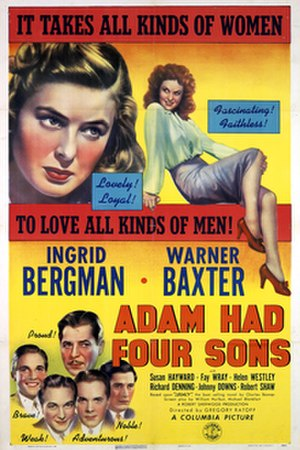 Adam Had Four Sons - Italian poster for the film.