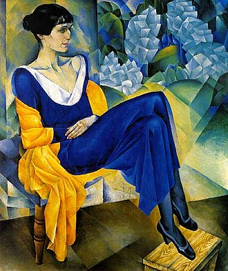 Nathan Altman - Portrait of Anna Akhmatova (1914), Oil on canvas. In the collection of the State Russian Museum.