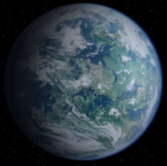 Alderaan - Alderaan from space