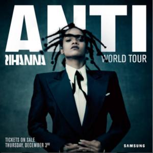 Anti World Tour - Image: Anti World Tour poster