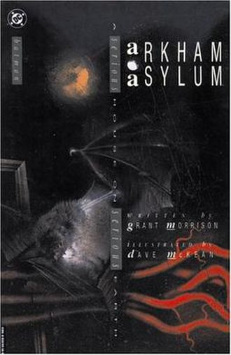 Arkham Asylum: A Serious House on Serious Earth - Dave McKean's cover of the Arkham Asylum: A Serious House on Serious Earth, hardcover edition
