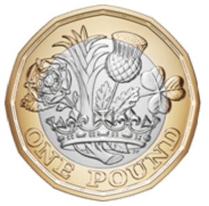 One pound (British coin) - Image: British 12 sided pound coin reverse