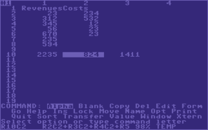 Multiplan - Multiplan on the C64.