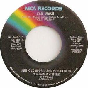 Car Wash (song) - Image: Car Wash by Rose Royce US vinyl single