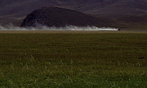 Mongol Rally - Typical Mongolian road.