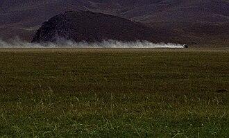 Mongol Rally - Typical Mongolian road.