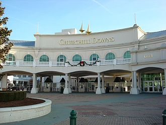 Churchill Downs - Churchill Downs front entrance gate